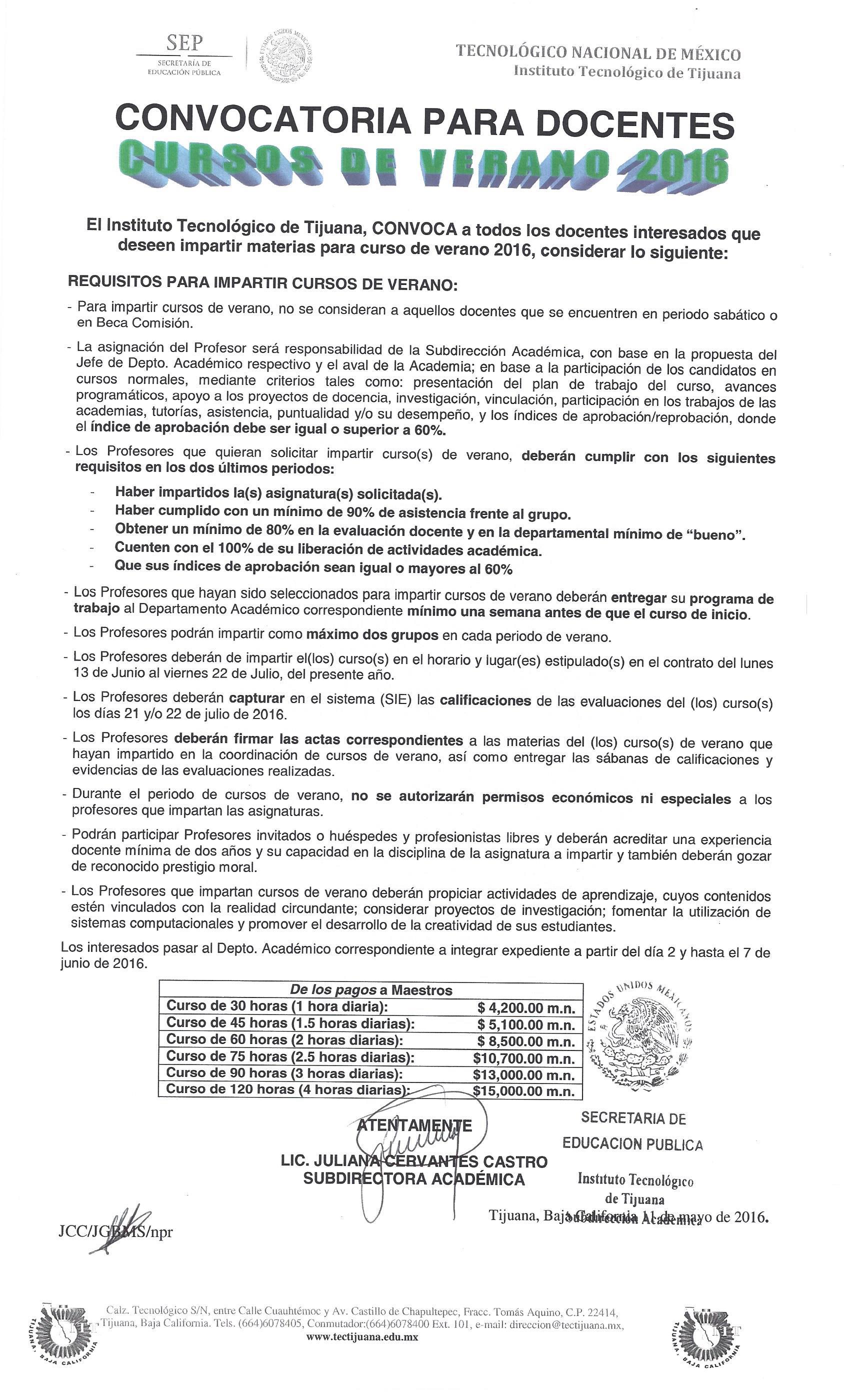 instituto tecnol gico de tijuana convocatoria docentes