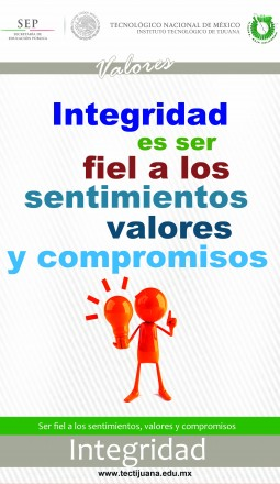 valores integridad Poster