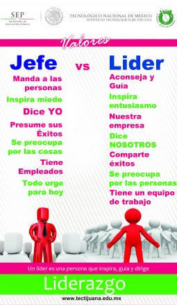 valores lider Poster