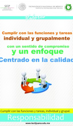 valores responsabilidad Poster