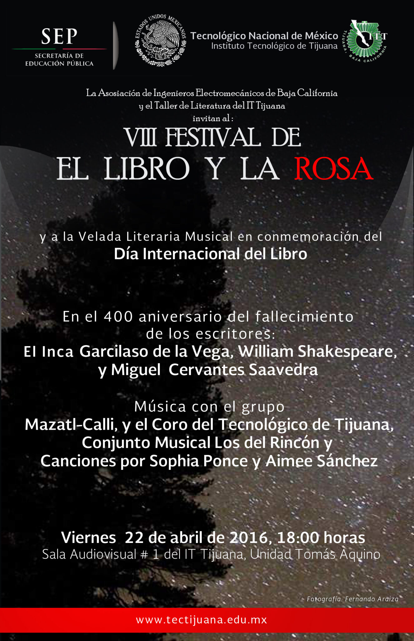 LIBRO Y LA ROSA POSTER 2016