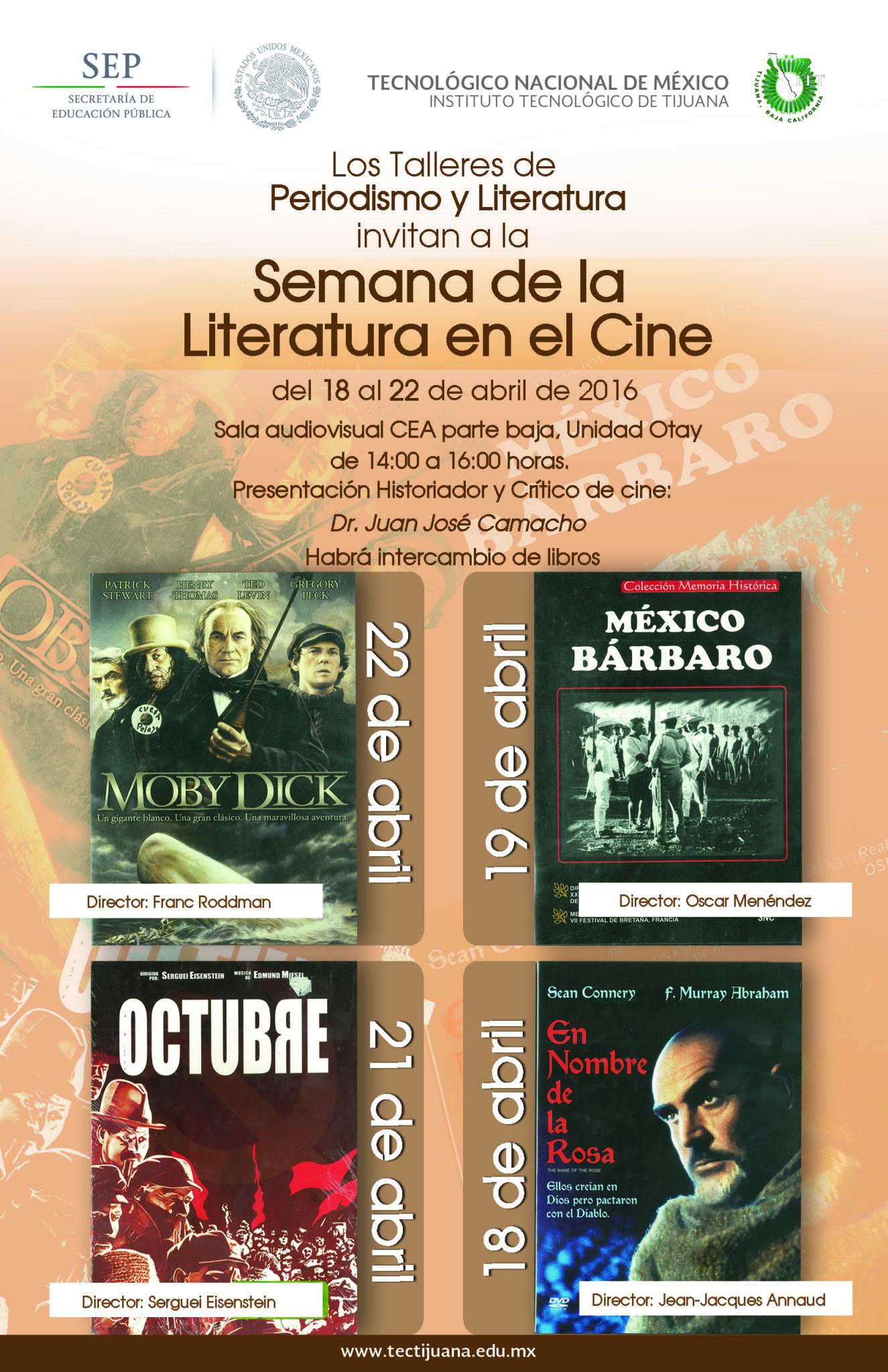 LITERATURA EN EL CINE poster 2016